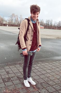 Vintage Bag, H&M Jacket, H&M Sweater, Favourite Hat, Cheap Monday Jeans