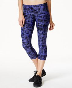 Calvin Klein Performance Printed Cropped Leggings - Pants - Women - Macy's