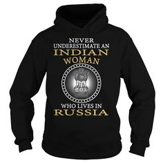 (Tshirt Discount Today) Never Underestimate an Indian Woman Who Lives in Russia at Tshirt Best Selling Hoodies, Funny Tee Shirts