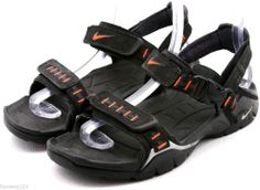 Nike ACG Mens Sandals Size 8 EU 41 Black Orange Sports strap sandals EUC @eBay