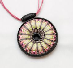 colorful polymer clay Pendant