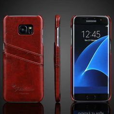 Vintage S7 / S7 Edge Case Leather Wallet Card Slot Fundas For Samsung Galaxy S7 / S7 edge / S6 / S6edge Cover Phone Accessories