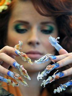 mermaid fingernails   Mermaid nail art