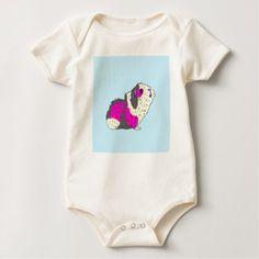 #cute #baby #bodysuits - #Piggy Stardust - Bowie Guinea Pig Baby Bodysuit