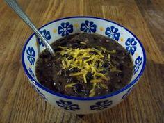 theveganfarmer.com Spicy Slow Cooker Black Bean Soup #vegan