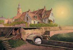 Theo Voorzaat in Galerie Lieve Hemel, Amsterdam - schilderijen, stadsgezichten