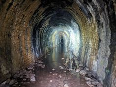 Abandoned Railway Tunnel Forest of Dean UK. x (OC). Forest Of Dean, New Forest, Photography Classes, Abandoned Places, Cemetery, Scary, Urban Exploration, Civil Engineering, Adventure