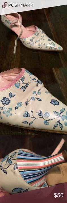 Victorian heels Pre loved oilily brand Anthropologie Shoes Heels
