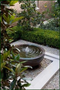 small garden Water Garden Fountains Th - garden Small Courtyard Gardens, Small Courtyards, Small Gardens, Outdoor Gardens, Water Gardens, Courtyard Ideas, Zen Gardens, Balcony Garden, Garden Plants