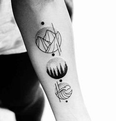 Geometric Mountain Guys Tattoo Designs http://www.retroj.am/matching-tattoos/