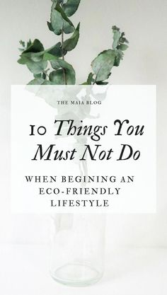 1479e14c09566 10 Things Not To Do When Starting an Eco-Friendly Lifestyle