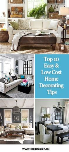 Top 10 Easy & Low Cost Home Decorating Tips