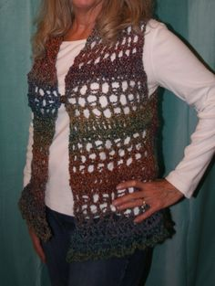 Loom knitting vest. Free pattern and instructions on youtube.  Happy looming.