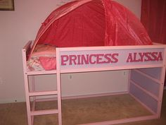 Personalized Kura Bed fit for a Princess with Playhouse Underneath - IKEA Hackers