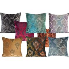Kevin O'Brien Studio Brocade Velvet Dec Pillow by defining-elegance on Polyvore featuring interior, interiors, interior design, home, home decor and interior decorating