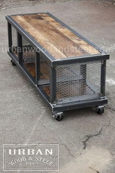 Copley urban industrial coffee table - ** Please note: due to the abnormally high order volume, the current lead time for all Furniture It - Welded Furniture, Industrial Design Furniture, Vintage Industrial Furniture, Steel Furniture, Cool Furniture, Furniture Ideas, Furniture Online, Furniture Stores, Luxury Furniture