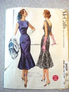 McCalls 3459 Vintage 1950s Sewing Pattern Dress Size by serine23, $22.00