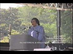 For historical and educational purposes only. Coretta Scott King speaks at the 1996 Atlanta Pride Festival in Piedmont Park in Atlanta Georgia. Listen t. Behind Every Great Man, Coretta Scott King, Piedmont Park, Historical Women, Atlanta Georgia, Gay Pride, Memories, Education, Youtube