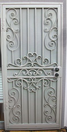 Entry Doors Archives - Whiting Iron and Great Gates in Phoenix AZ Metal Gates, Wrought Iron Doors, Metal Screen, Wrought Iron Security Doors, Iron Gate Design, Window Grill Design, Steel Doors, Entry Doors, Door Entryway