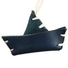 Toy Boat Italian Leather Key Chain