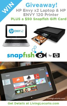 HP Envy x2 Laptop & Printer Giveaway ($998 Value)
