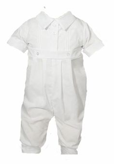 Boys Christening Outfits Simple Pintucks Coverall Baptism Longall Set