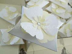 110 pillow box wedding favour boxes by cherrywhistle on Etsy