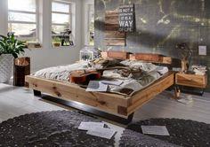 Bett Balkeneiche massiv Heavy sleep