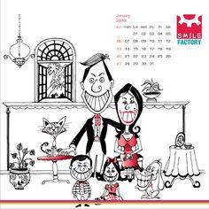Smile Factory Calendar 2013 by artnow design dock