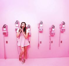 Ice Cream Museum, Ice Scream, Rosa Pink, Different Shades Of Pink, Cow Girl, Shopping Mall, Mood Boards, Photo Wall, Traveling