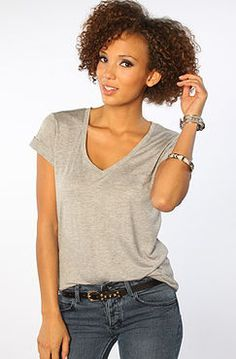 Obey The Dream State Solid V Neck Tee in Heather Gray : and Springtime In Paris, Heather Gray, V Neck Tee, Women's Accessories, Grey, Shopping, Beauty, Shirt, Summer