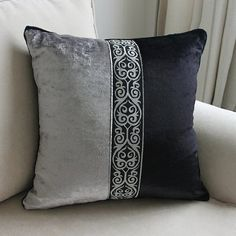 European Luxury Black Grey decorative throw pillow almofadas cojines decorativos cushions home decor seat chair cushion for sofa Couch Cushion Covers, Diy Pillow Covers, Grey Cushions, Throw Pillow Cases, Chair Covers, Lumbar Pillow, Sewing Pillows, Diy Pillows, Couch Pillows