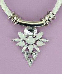White Knight statement necklace