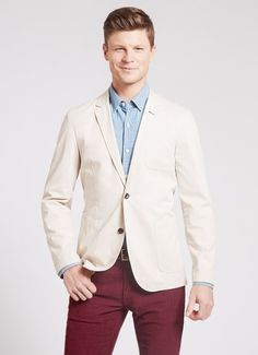 $53 with email signup - The Washed Chino Blazer - Stone from Bonobos