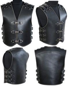 Leather Biker Vest, Motorcycle Tank, Biker Jackets, Tank I, Leather Working, Vests, Fashion Backpack, Dan, Character Design