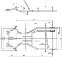 CIA Sample Kart Chassis Technical Drawing