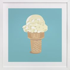 Ice Cream Monogram by bumble ink at minted.com