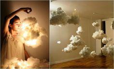 Bonita Nube lampara de algodón.   Quiero más diseño