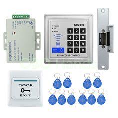 198 best electric locks images access control, locks, security gadgetsbrand new diy 3000users full rfid electric lock system kit set with electric strike lock