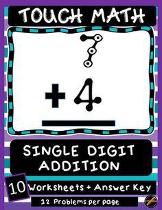 Touch Math Subtraction Worksheets: Double Digit Subtraction No ...