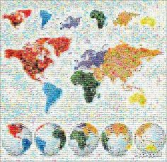 Image Result For World Map Honeycomb Photo Mosaic