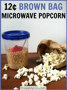 Homemade microwave popcorn is just as easy as store bought popcorn. Popcorn Recipes, Snack Recipes, Cooking Recipes, Snacks Ideas, Cooking Tips, Homemade Microwave Popcorn, Good Food, Yummy Food, Healthy Snacks