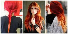 ¡Sensacional! Cabello estilo Fuego #hairstyle #women #fashion #moda #mujeres Red Leather, Leather Jacket, Color Trends, Handsome, Dreadlocks, Hair Styles, Hair Colors, Beauty, Women