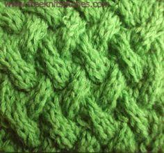Big basket knitting stitches