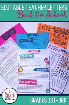 Use these editable letters to customize the perfect back to school letter to students and parents. Receiving a back to school letter from the teacher will be the right start to your school year!