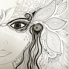 My favorite so far #zendoodle #doodle #80sinspired