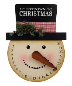 Snowman Christmas Countdown Calendar by Grasslands Road Turn the snowman's nose on to count down the days until Santa arrives. Christmas Signs, Christmas Snowman, Winter Christmas, Christmas Holidays, Christmas Decorations, Christmas Ornaments, Christmas Projects, Holiday Crafts, Christmas Ideas