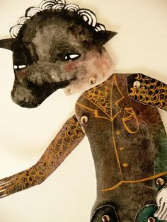 Bull Headed Paper Doll DIY Articulated Paper Doll / Hinged Beasts Series by Emma Kidd on etsy