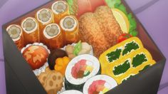 Hitorijime My Hero - Episode 8 Anime Bento, Real Food Recipes, Yummy Food, Cute Food Art, Watercolor Food, Food Painting, Food Drawing, Dessert Drinks, Aesthetic Food