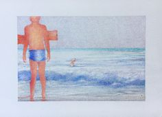 """21 /  LUISA FABRIS, """"Non siamo di questo mondo/1"""", pastello su carta, 30 x 20 cm."""